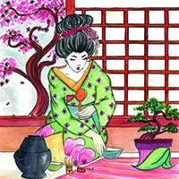 Matcha Geisha mini